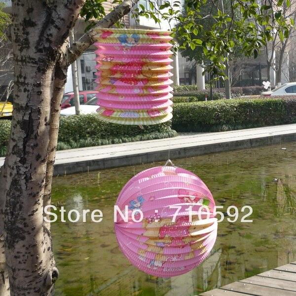 2pcs Cylinder And Round Cute Paper Lanterns Accordion Lanterns Hanging  Balls Pary Showers Garden Yard Decorations Design Inspirations