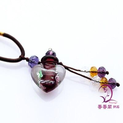 2 шт Духи из муранского стекла ожерелье s, ароматические флаконы, стеклянные подвески для духов, парфюмерное ожерелье флакон - Окраска металла: Purple