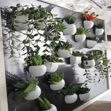 1PC DIY Artificial Silicone Succulent Plant Fridge Magnet For Home Hotel Party Decoration Bonsai 10 Types