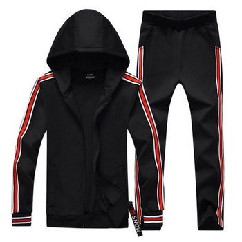 Male Sweat Track Suit Jacket Hoodie with Pants Mens Sportswear Suits Fashion Tracksuit Men Hoodies Set Spring Autumn Two Pieces