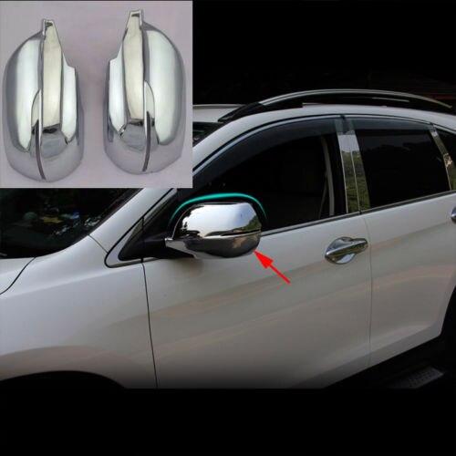 2 pièces Chrome rétroviseur latéral Dec garniture de couverture pour Honda CRV CR-V 12-2015