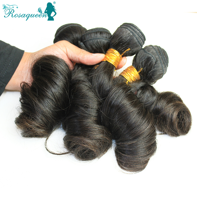 7A Brazilian Virgin Hair Romance Bouncy Curl Unprocessed 100% Human Hair 4 Pieces Lot Natural Color Egg Curl Hair Free Shipping