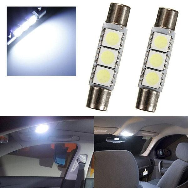 2 шт. тщеславие козырьке светодио дный зеркало свет автомобиля 6614 светодио дный 28 мм светодио дный 5050 3smd автомобиля лампы Интерьер гирлянда светодио дный