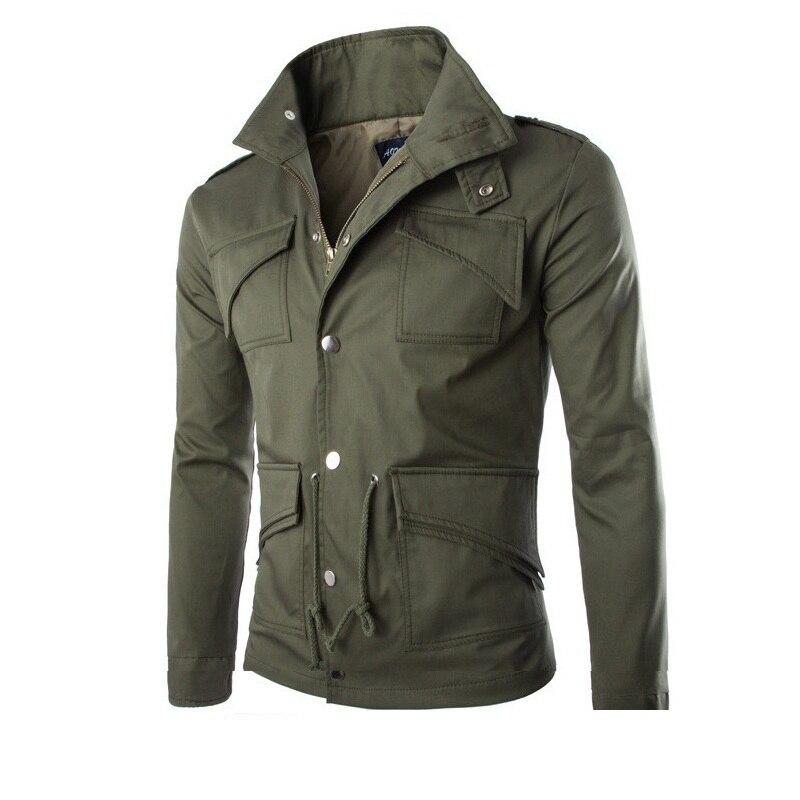 Y177 Vestes Sportwear Blouson Automne 2 Casual Manteau Multi Veste À color 3 Manches Faroonee Hommes Zipper color 1 Poches Color Hoodies Longues vpw6q6
