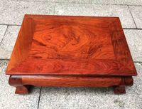 Redwood pit, Burmese rosewood plain noodles, large fruit rosewood table, solid wood tea table, mahogany furniture
