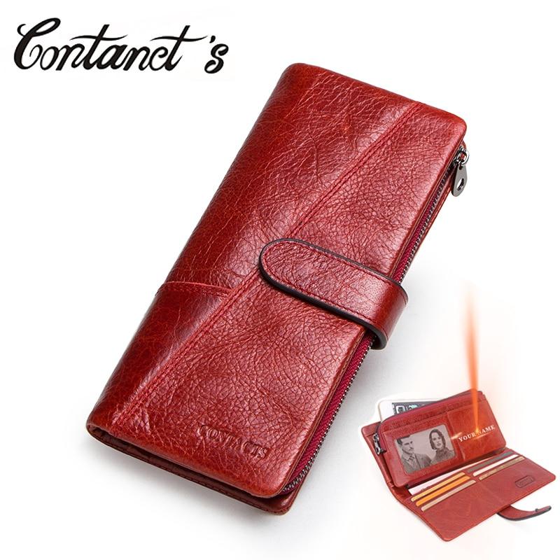 Frauen Brieftasche Luxus Marke Echtem Leder Lange Weibliche Kupplung Brieftasche Hohe Kapazität Damen Geldbörse Design Geld Tasche Für Dollar Preis