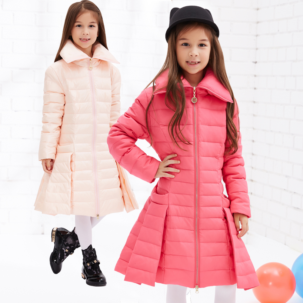 Girls Winter down Jackets Coats Warm Baby Girl Thick Duck Down Kids Jacket Children Outerwears for Cold Winter 120-160cm casual 2016 winter jacket for boys warm jackets coats outerwears thick hooded down cotton jackets for children boy winter parkas