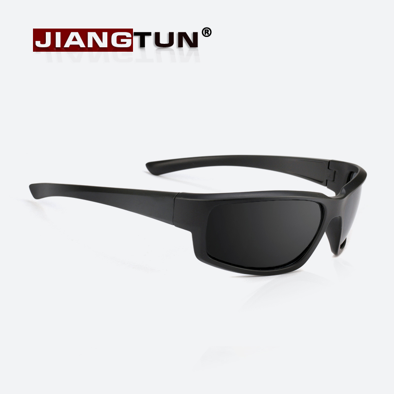 JIANGTUN New Men Polarized Sunglasses Brand Designer 2017 Black Glasses Driving Points UV400 Protection Sunglass Gafas Ciclismo