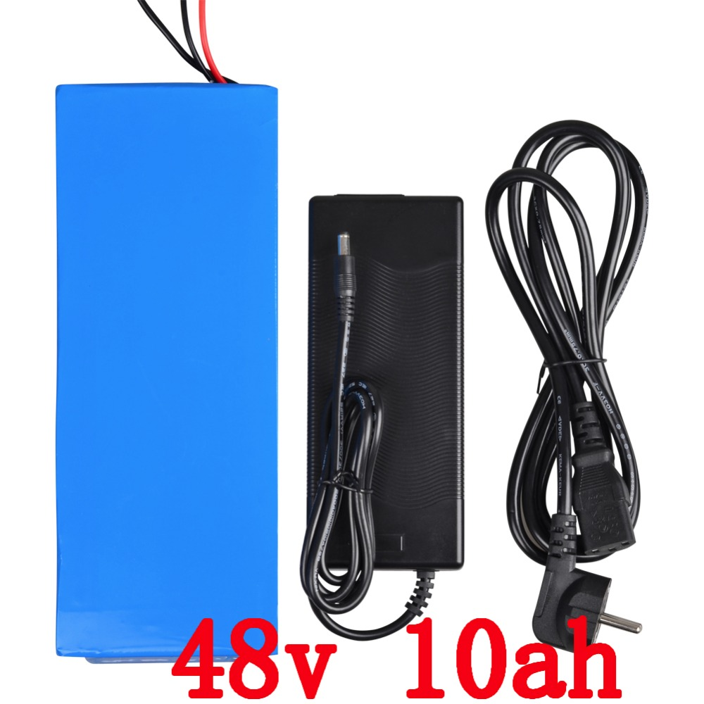 Electric bike battery 48V 10AH 500W 700W 48 V ebike e scooter Lithium ion battery 10AH with 15A BMS 2A Charger Free customs duty free customs taxes and shipping balance scooter home solar system lithium rechargable lifepo4 battery pack 12v 100ah with bms