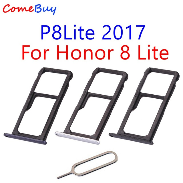 US $2 99 |Huawei P8 Lite 2017 SIM Card Tray Holder Micro SD Slot Socket  Adapter For Huawei Honor 8 Lite Sim Tray Gold/Silver/Blue/Black-in Mobile