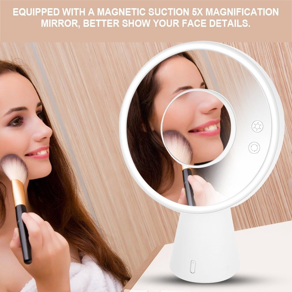 Multifunctional Led Light Makeup Mirror Tabletop Touch