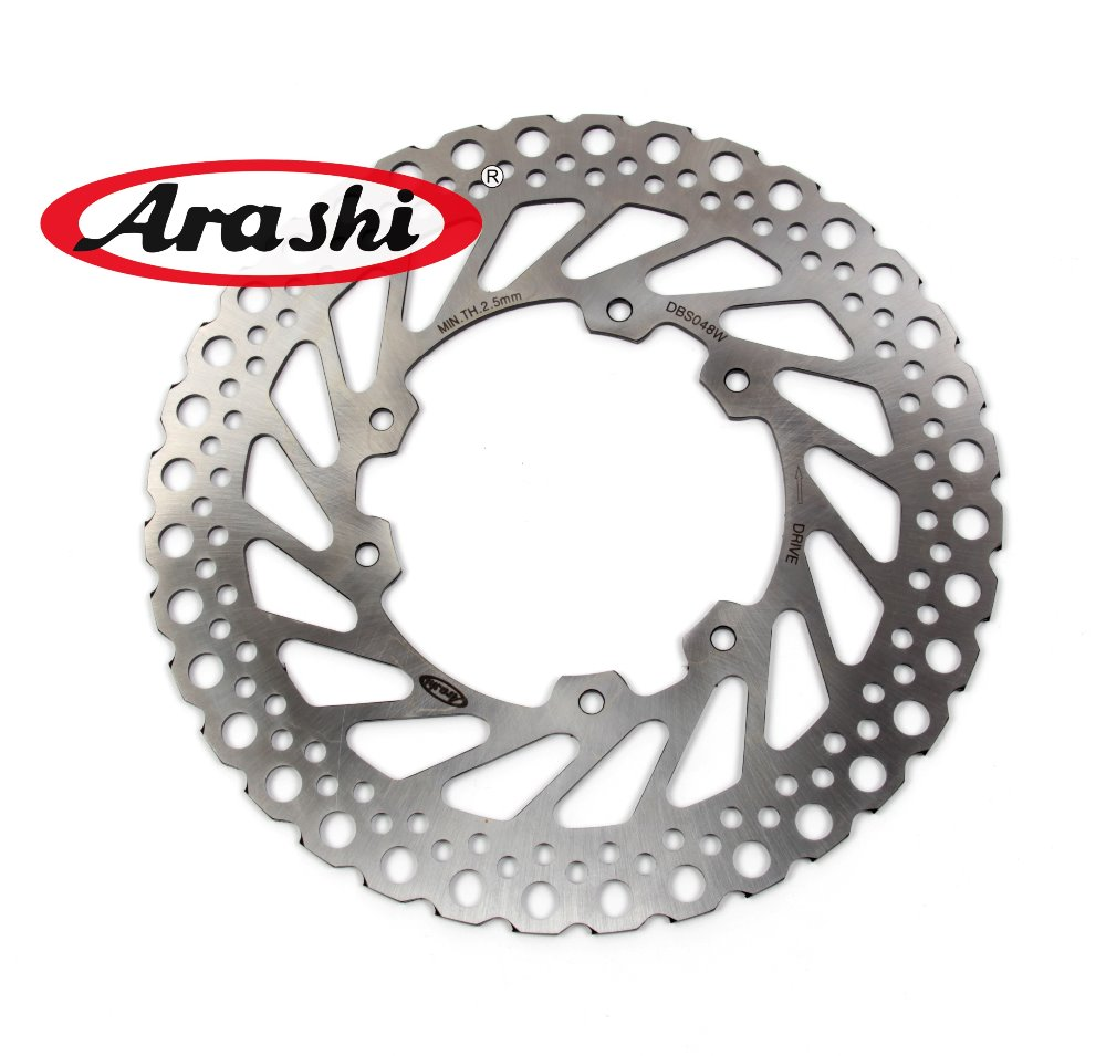 Arashi 24cm CNC Brake Rotors Front Brake Disc For Honda CRF450R 2002 2003 2004 2005 2006 2007 2008 2009 2010 2011 2012 2013 2014 arashi 1pair for suzuki gsxr1000 gsxr 1000 2005 2006 2007 2008 cnc front brake disc brake rotors gsx1000 r motorcycle parts