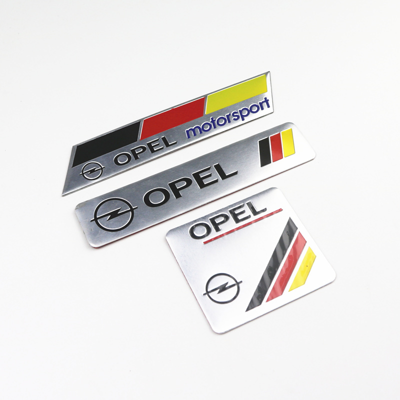 3pcs Car Decoration Stickers Logo 3D Aluminium Emblem Badge Decal For Opel Astra H G J Corsa Insignia Antara Meriva Zafira