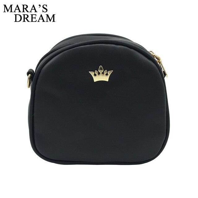 Mara's Dream 2018 Fashion Women Handbag Messenger Bags PU Leather Shoulder Bag Lady Crossbody Mini Bag Female Crown Evening Bags 2