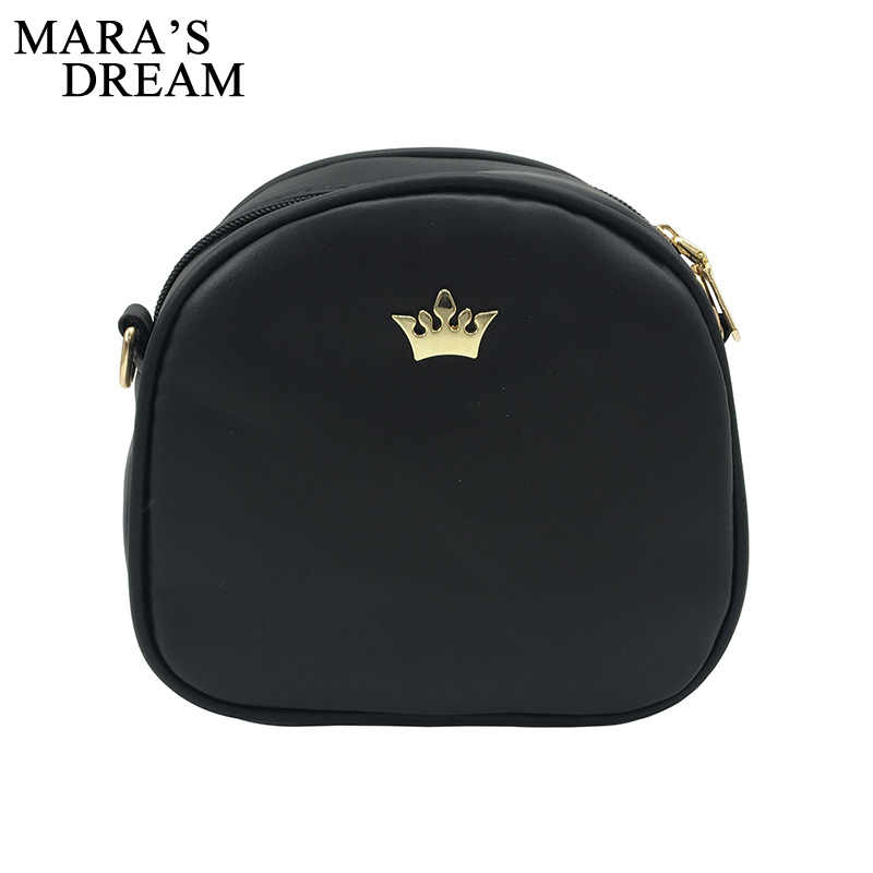 Mara's Dream 2020 moda damska torebka Messenger torby torba na ramię ze skóry PU Lady Crossbody Mini torba kobieta korona wieczór torby