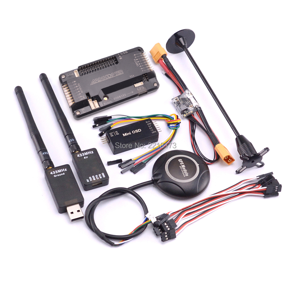 цена APM2.8 APM 2.8 Flight Controller Board Power module 7M GPS with compass Power module Mini OSD 433 / 915 Telemetry