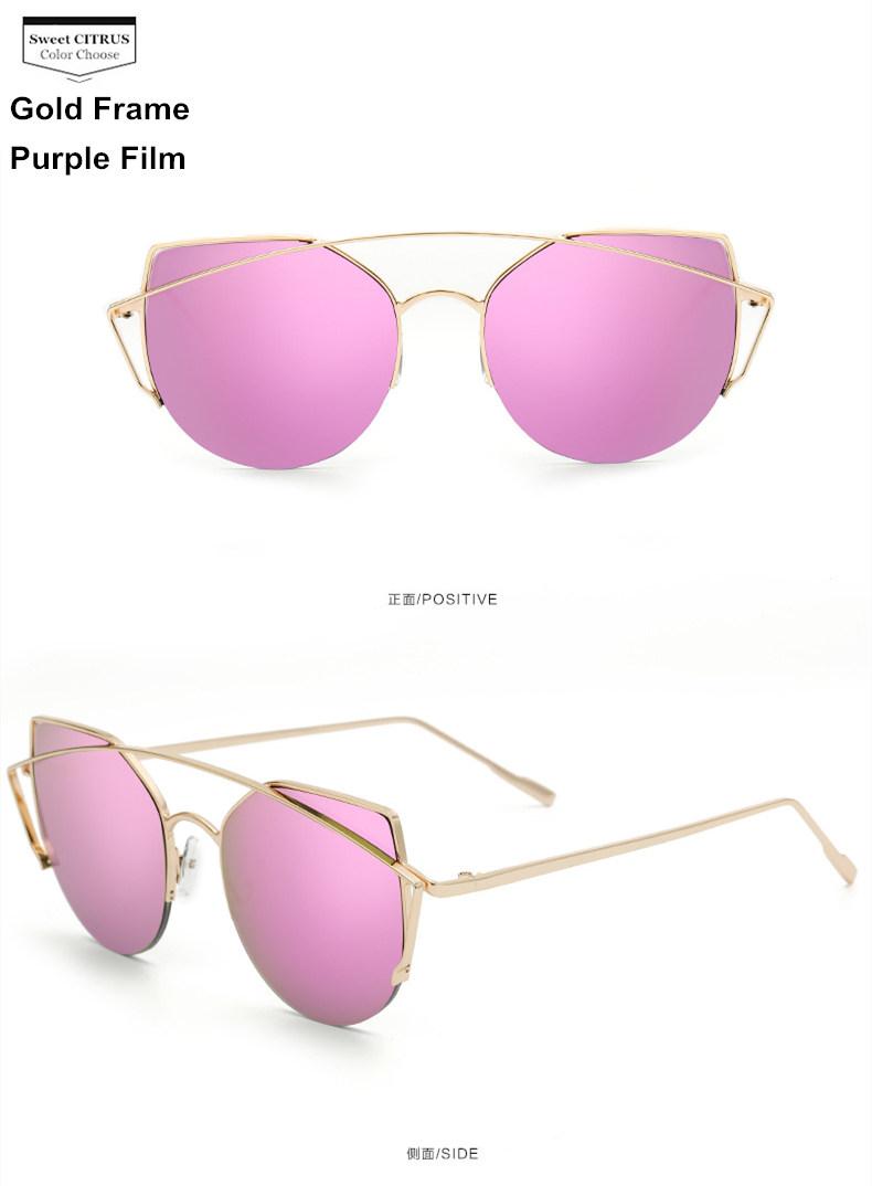 HTB11.u1PFXXXXcGXFXXq6xXFXXXF - Sweet CITRUS Cat eye Sunglasses Women Luxury Brand Designer Metal Original Sun Glasses For Female vintage Oculos De Sol Feminino