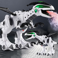 Electric Spray mechanical Dinosaur Robot Electronic Mechanical Dinosaurs Model Toys for children with Light Sound Walking