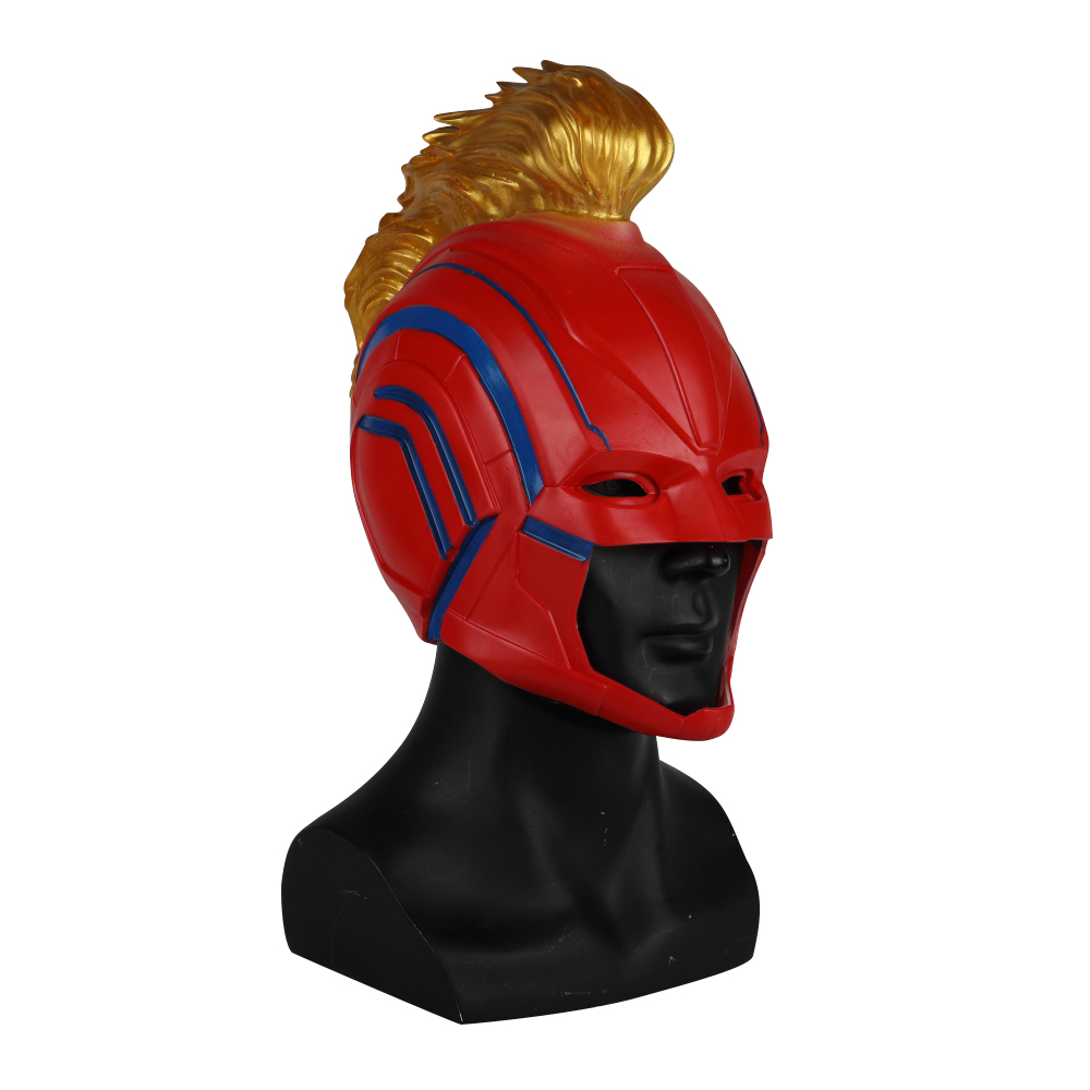 PVC Helmet Captain Marvel Carol Danvers Superohero Mask Women Cosplay Helmet Costume Halloween Party Prop