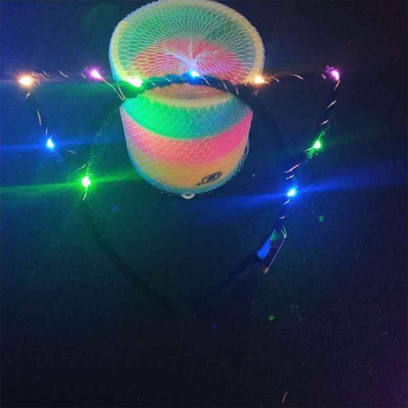 1 PC ผู้หญิงผู้หญิง LED กระพริบน่ารักชี้แมวหูผม Hoop เรืองแสงไฟ Plush ผ้าห่อ Headband PARTY อุปกรณ์