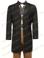 Free Shipping Full Length Jazz Cloth Mens Steampunk Swallowtail Coat