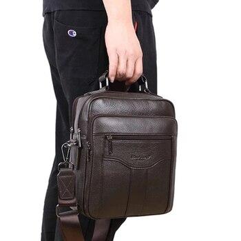 MEIGARDASS Hakiki Deri erkek Iş Evrak Çantası Rahat askılı çanta Seyahat omuz çantaları Erkek Kılıf 9.7 ''iPad Çanta
