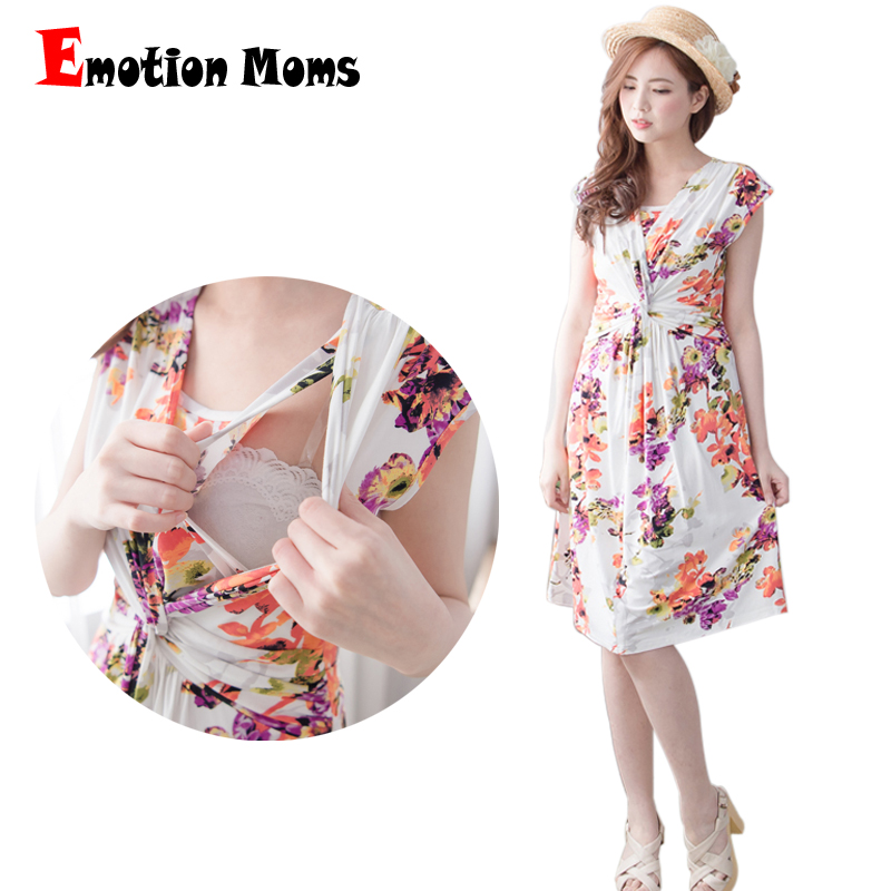 ФОТО Emotion Moms Fashion maternity pregnancy Clothes nursing dress Breastfeeding Dresses for Pregnant Women Summer nursing clothing