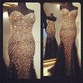 1536 P Sparkly Sereia Querida Totalmente Frisado Tule 2017 vestido da ocasião Especial de Cristal de Alta qualidade design personalizado vestidos de baile