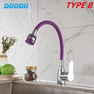 Image 2 - Siyah beyaz pembe silika jel burun herhangi bir yönde mutfak musluk soğuk ve sıcak su mikser tek kolu musluklar Torneira Cozinha