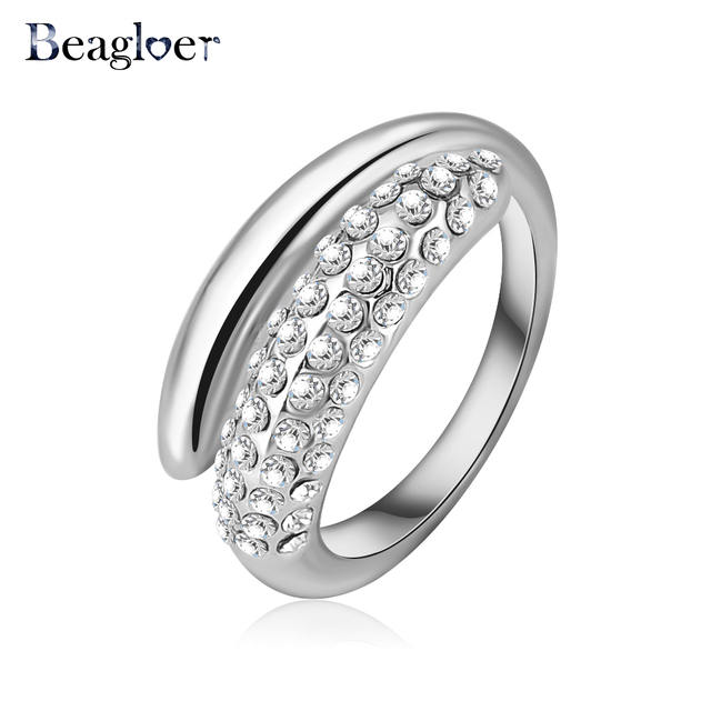 Styles Of Enement Rings | Beagloer Brand Simple Style Engagement Ring Austrian Crystal Element