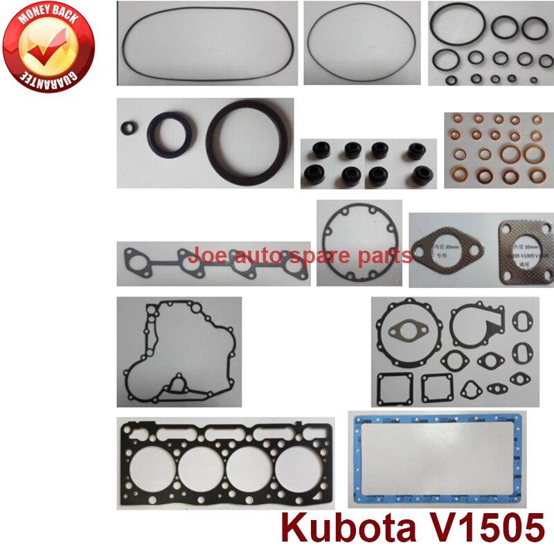 Kit complet de garniture de moteur de révision de réparation complète pour moteur Kubota: V1505
