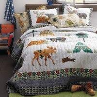 Качественный Хлопок Дети покрывало Стёганое одеяло комплект 3 шт. покрывало Стёганое одеяло ed постельные принадлежности одеяла ручной рабо...
