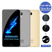 Original Oukitel K6000 Plus 4G LTE Mobile Phone MTK6750T Octa Core 5.5″FHD 1920×1080 4GB RAM 64GB ROM 16MP Fingerprint 6080mAh