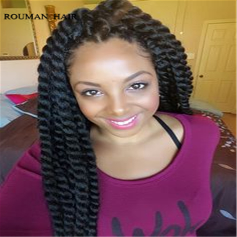 12 strands piece kanekalon havana synthetic crochet braiding hair braids hairstyles durable - Crochet braids avec xpression ...