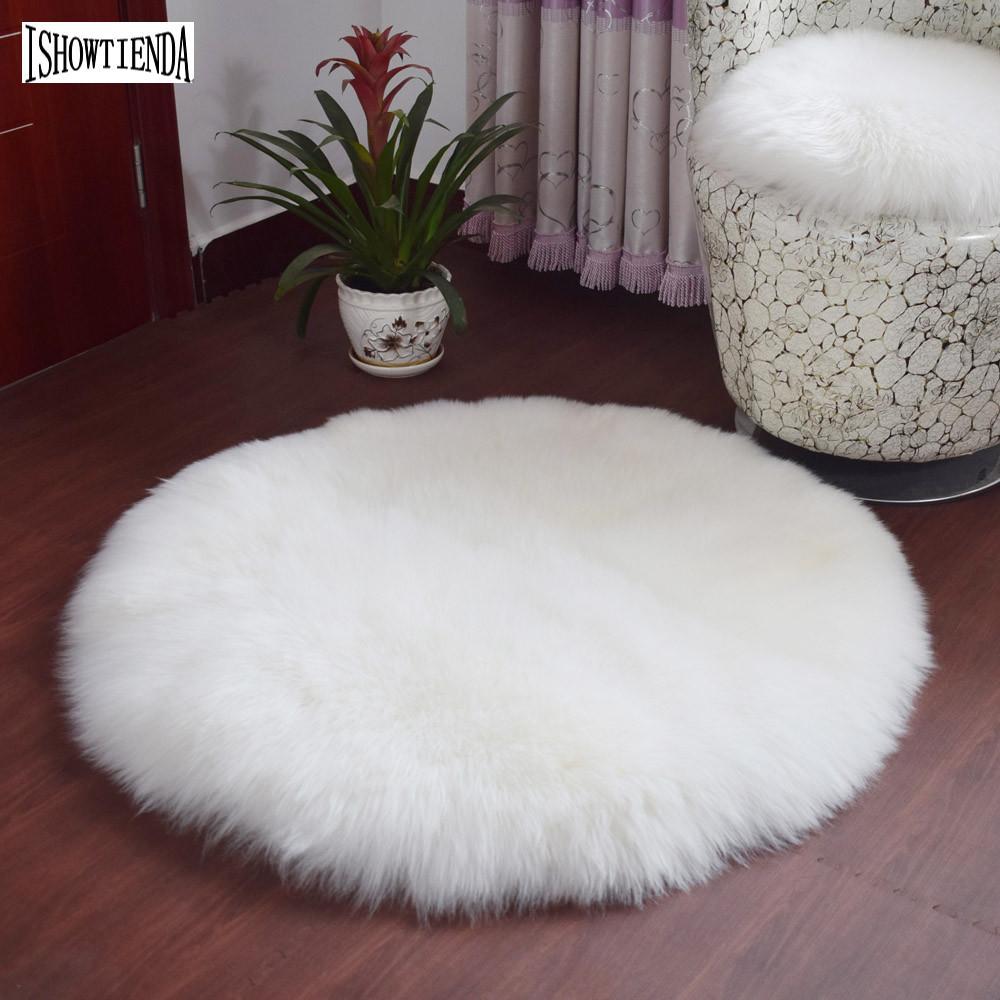 100% Waar Zachte Kunstmatige Schapenvacht Tapijt Stoel Cover Kunstmatige Wol Warm Harige Tapijt Zetel Mat Voor Deur Mat Op De Vloer