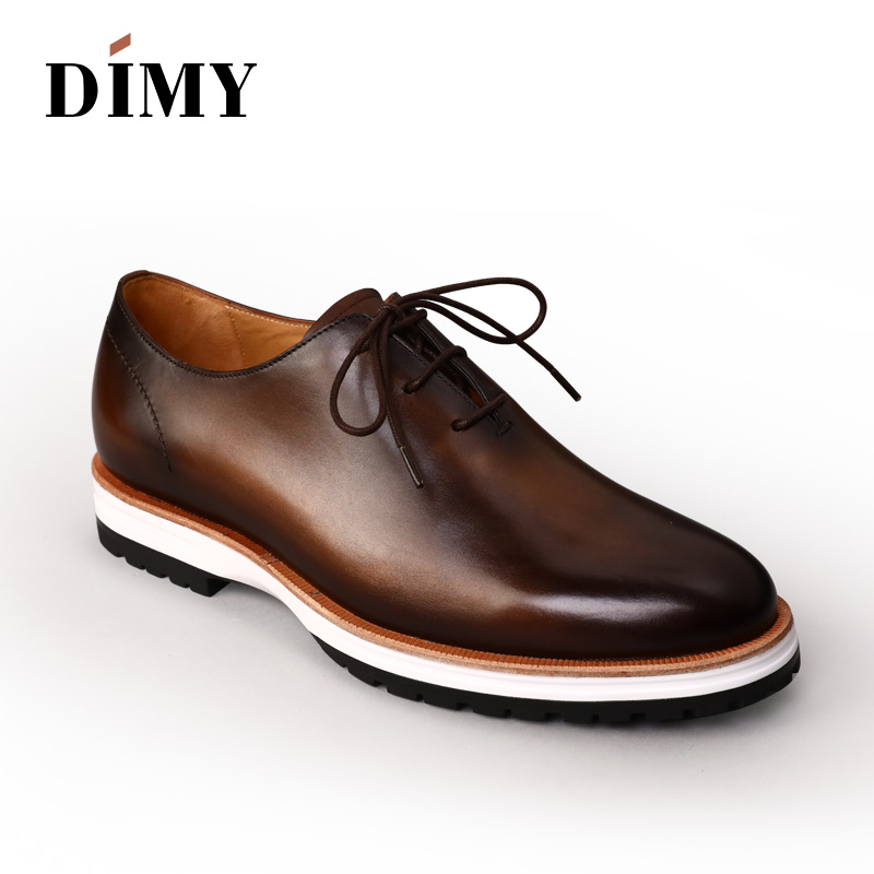 New 2018 handmade Business Dress Men Formal Shoes Wedding footwear drive loafter chaussure Men Flats casual Oxfords Shoes patina 2017 men shoes fashion genuine leather oxfords shoes men s flats lace up men dress shoes spring autumn hombre wedding sapatos