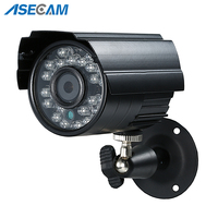 Asecam Sony CCD 960H Effio 1200TVL CCTV MINI Bullet Surveillance Outdoor Waterproof 24led infrared Security Camera