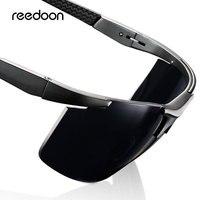 Reedon поляризованные солнцезащитные очки HD объектив UV400 металлическая оправа мужские солнцезащитные очки фирменные очки для вождения очки д...