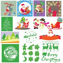 Newest Christmas Santa Claus Reindeer Tress Sled Cedar Metal Cutting Dies for DIY Scrapbooking Craft Paper Cards Making 2019 New