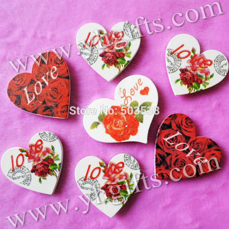 300PCS/LOT.Mix design Big wood LOVE ROSE HEART stickers,Kids toys,scrapbooking kit,Early educational DIY.Kindergarten crafts.