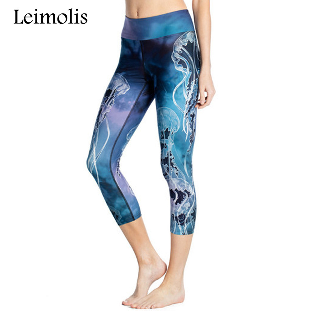 Leimolis 3d Print Jellyfish Seahorses Coral Harajuku High Waist Workout Push Up Plus Size Fitness Leggings Women Pants Aromatic Character And Agreeable Taste Bottoms Women's Clothing