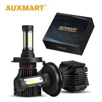 Auxmart H4 LED Headlight 50w Set High Low Beam Car Light Bulb H4 HB2 9003 CSP