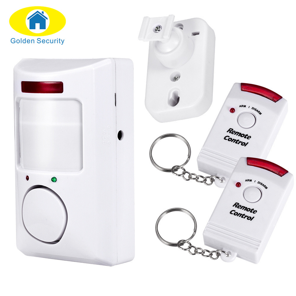 Golden Security PIR Sensor Infrared Anti-theft Motion Detector Home Security Alarm Monitor Wireless Alarm system+2 controller smart pir mp alert a9 anti theft monitor detector gsm alarm system for home