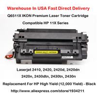 1 Pack IKON Premium Laser Toner Cartridge Compatible 11X Series Replacement For HP Q6511X High Yield