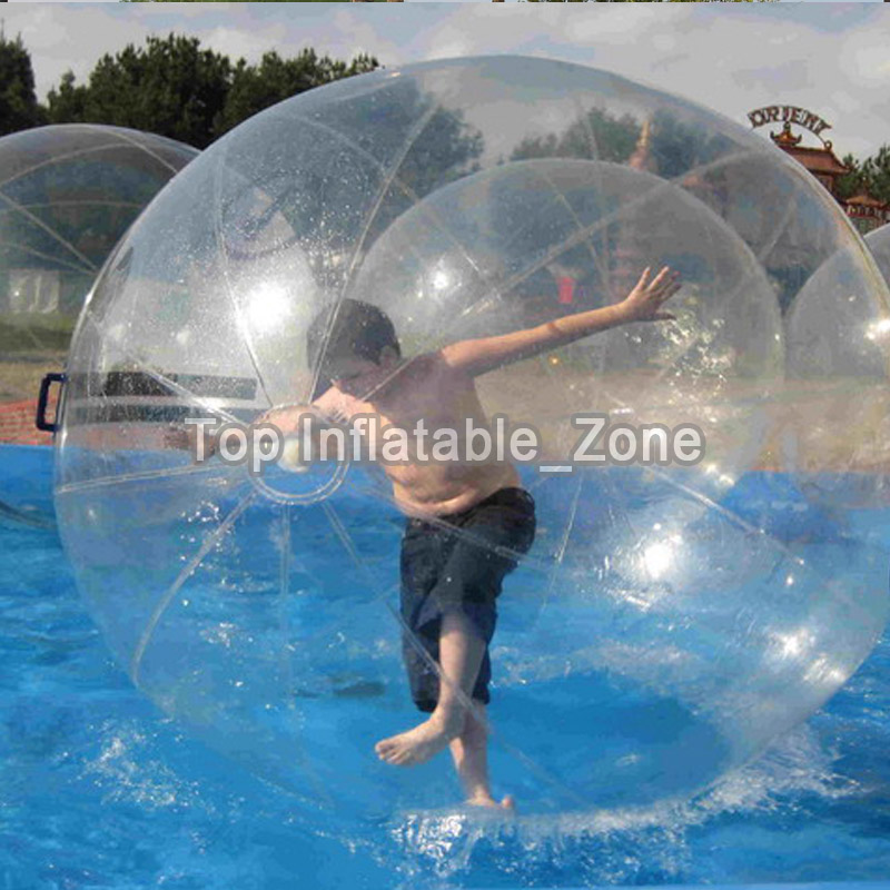 TPU/PVC Material Inflatable Water Walking Ball For Sale 2m Dia Dancing Ball For Human Popular Clear Water Zorb Ball For Pool