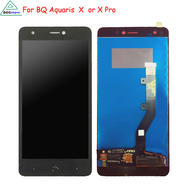 Original For BQ Aquaris X  LCD Display Touch Screen Digitizer Mobile Phone Parts for BQ Aquaris X Pro Screen LCD Free Tools