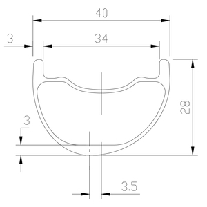 Image 2 - 29er MTB AM ENDURO 40mm asymmetric carbon rim 28mm deep clincher tubeless UD 3K 12K matte glossy 24H 28H 32H 36H hookless wheel