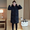 Winter Korean Slim jackets thick cotton-padded jacket student plus size Korean cotton female  long knee length parkas MZ1074