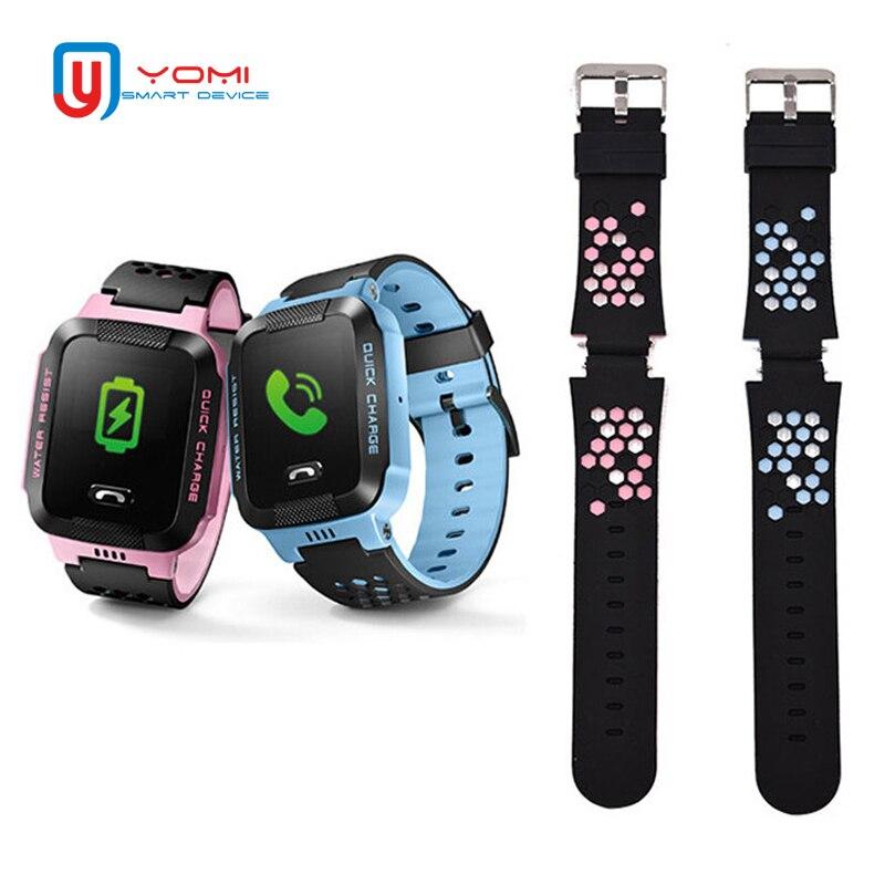 1 piezas de recambio correas para niños reloj inteligente correas de goma Q528 Y19 Y21 Y12 T7 GPS inteligente correas de reloj inteligente accesorios
