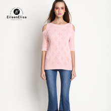 Blouse Women High Quality 2017 Sweater Blouse Off Shoulder White Pink Shirt
